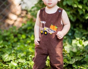 Brown Cord Tractor Pumpkin Longall,Fall Longall,Brown Cord Longall, Pumpkin Longall
