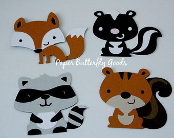 Set of 4 Forest Animals Die Cuts