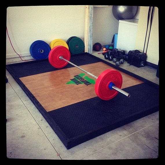 Custom made weight lifting platform crossfit by