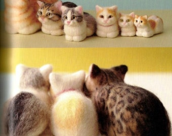 NEEDLE FELT REALISTICcats-Japanese Craft Book-Instand Download PDF   file-E-Book#8