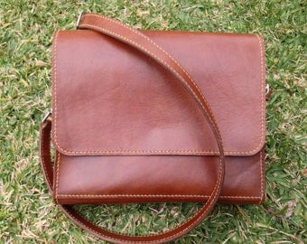 Leather Messenger Bag, Leather Cross Body Bag, Leather Satchel Bag, Leather Courier Bag