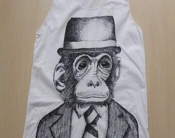 Monkey Animal New Wave  Pop Art Rock Punk T-Shirt Vest Tank Top