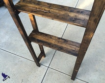 CHARLI: Rustic Wood Bathroom Shelving Unit