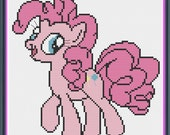 My Little Pony Pinkie Pie Cute Counted Cross Stitch PDF Pattern - INSTANT DOWNLOAD