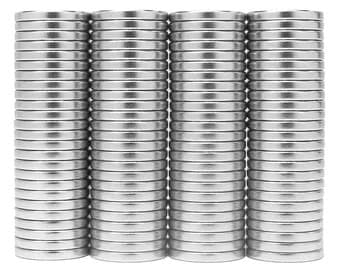 1/2 x 1/16 inch (12.7 x 1.6 mm) Craft Neodymium Rare Earth Magnetic Discs, Strong Disc Magnets, N48 (100 Pack)