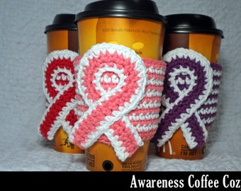 Awareness Coffee Cozy Crochet Pattern