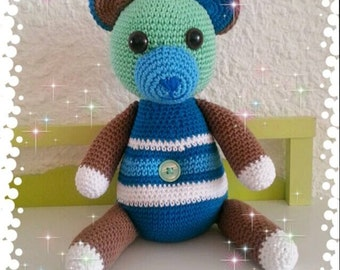 Teddy bear crochet (PDF in french)