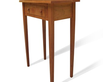 Solid Cherry Shaker End Table with Drawer