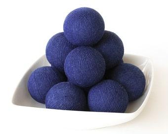 20 Loose Cotton Balls NOT INCLUDE String Lights, Fairy, Patio Party, Wedding Lights, Outdoor, Bedroom - Dark Blue