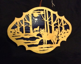 Wolf pack plaque