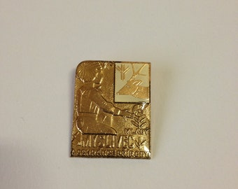 Czechoslovakia The young hunter and conservationist Pin Badge