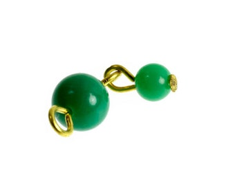 5.5mm & 3.5mm acrylic jade bead-drops with brass headpins