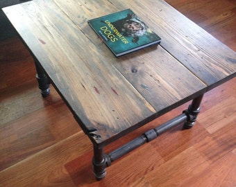Industrial Table with Rustic Table Top