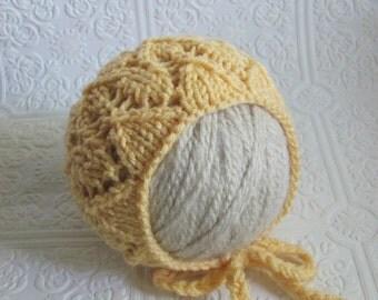Lace Bonnet - Knitting Pattern - Newborn
