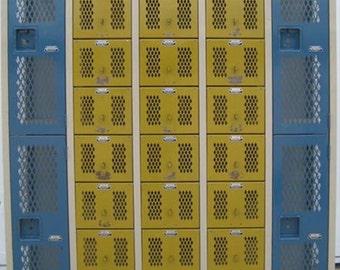 Tri Colored Vintage Locker Set Refurbished