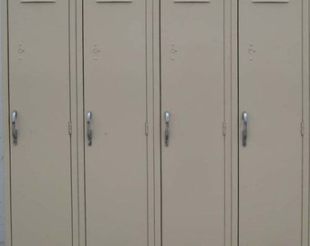 Vintage Vanilla Lockers Shabby Chic Refurbished