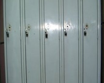 Pale Green Vintage Lockers