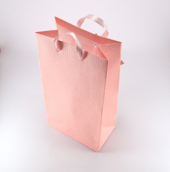 Wedding Gift Bags With Handles : SMALL Pink Paper Favor Bags with HandlesParty Gift BagsWedding ...