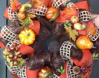 Fall Wreath, Front Door Wreath