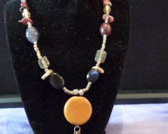 Carmel Colored beads with colored stone necklace