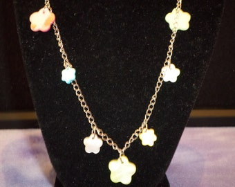 Cute Flower and Chain Necklace