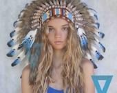 Indian Headdress in Blue