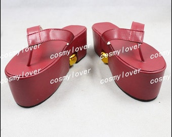 Vocaloid Kagamine Rin Custom Made Cosplay Shoes