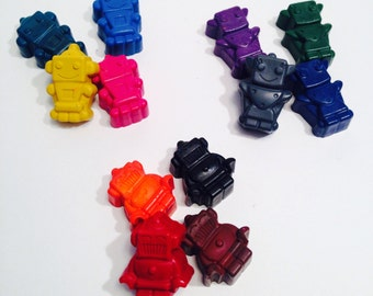 Robot Crayons. Party favour. Kids crafts. Sets of 12
