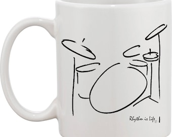 Drumset Coffee Mug - 4 piece (1 up)