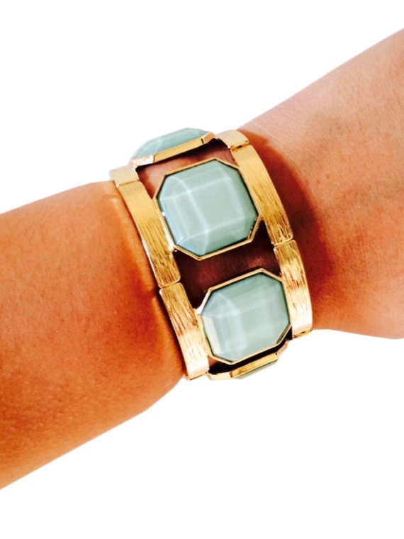 Fitbit Bracelet for Fitbit Flex - EMILY Gold and Green Stone Fitbit Bracelet - FREE SHIPPING