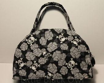 Handbag 'Grey skulls'