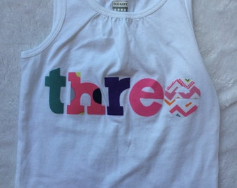 Girls Birthday Shirt -  one, two, three, four, five, six, seven, eight, nine, ten