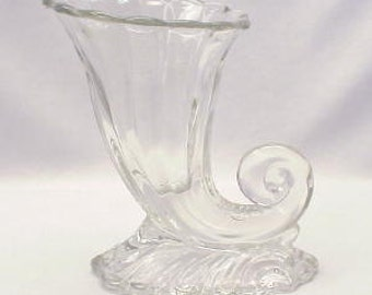 Heisey Horn of Plenty in Warwick Patternin Clear Crystal
