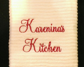Kitchen Name Persoalized Towel
