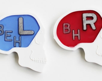 1 SET Skull X-Ray Markers Right & Left in a Variety of Colors