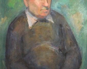 Antique oil painting impressionist portrait