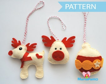 Christmas Ornament Pattern, Ornament Pattern, Sewing Pattern, Instant Download,  A1091