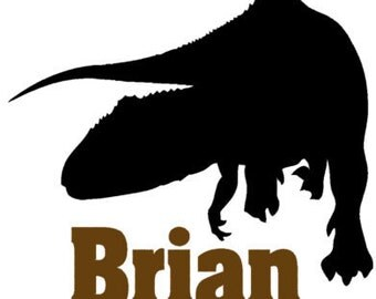 Personalized dino decal T rex boys room decor sticker childs room decal-25 X 28 inches