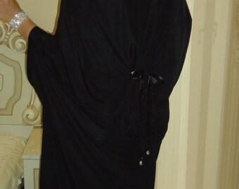 Maxi dress/ Oversize dress /Plus size dress Kaftan Top Robe/Elegantant black dress/Loose dress/Caftanss/  / All sizes available Us Uk Eu