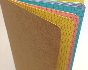 PASTEL Traveler's Notebook Insert  - Choice of Patterns and 9 sizes