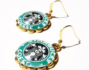 Starbucks Dangle Earrings FREE SHIPPING