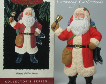 1993 Hallmark Merry Olde Santa Ornament Keepsake Christmas Santa Claus Old 4th in Series #4 MIB