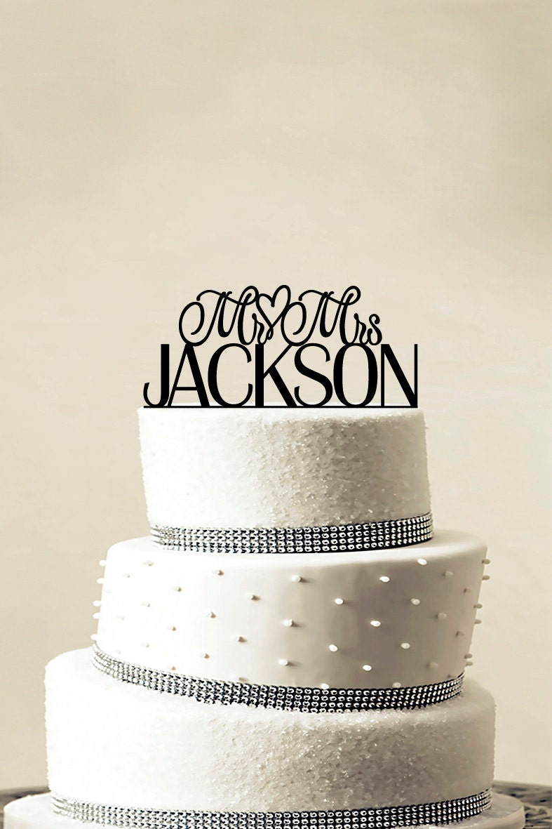 Custom Wedding Cake Topper Personalized Monogram Cake Topper