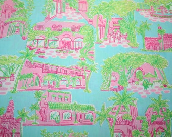"rare** 18""x18"" palm beach toile lilly pulitzer fabric from"