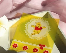 50pcs Winnie the Pooh bags, biscuit bags, party bags, candy bags, scrapbook pouch, Disney Theme Party Supplies
