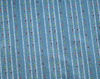 CLOSEOUT Scoot Blue Dots and Checks Fabric by Deena Rutter for Riley Blake Fabrics