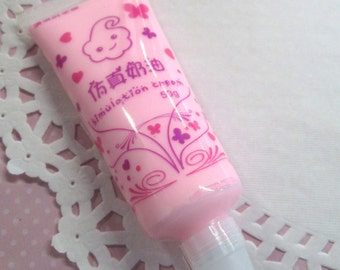 Decoden Whipped Cream Glue, Pink Color, for Cell Phone Decoration, 50g