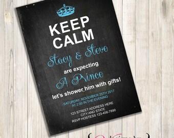 Keep Calm Baby Shower Invite, Keep Calm Baby Shower, Keep Calm Baby Girl Shower, Keep Calm Baby Boy Shower, Keep Calm Shower, Keep Calm