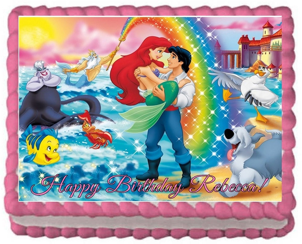 The Little Mermaid Edible Cake Toppers Frosting by ...