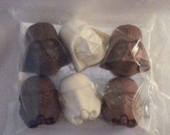 Solid Chocolate Darth Vader & Storm Troopers
